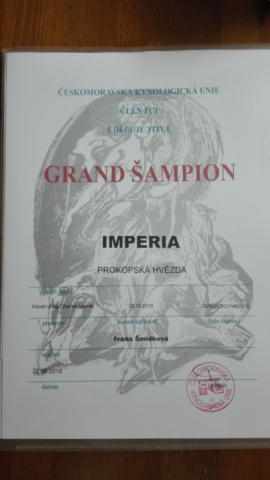 Grand šampion ČR Imperia